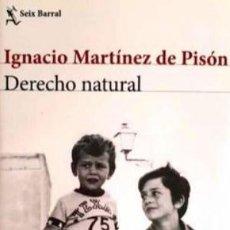 Libros de segunda mano: IGNACIO MARTÍNEZ DE PISÓN - DERECHO NATURAL - 1ª EDIC.. Lote 252137765