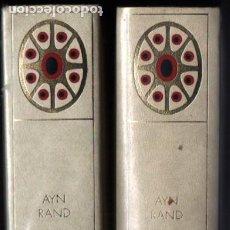 Libros de segunda mano: AYN RAND . OBRAS COMPLETAS - DOS TOMOS (MARIN) NUEVOS Y AÚN PRECINTADOS. Lote 252141235