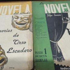 Libros de segunda mano: LA NOVELA DEL SABADO, AÑO 1940, LOTE 15 NOVELAS: COSSIO, SERRANO ANGUITA, TOMAS BORRAS, .... Lote 253482650