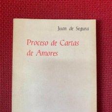 Libros de segunda mano: PROCESO DE CARTAS DE AMORES. JUAN DE SEGURA. 1980, EL ARCHIPIELAGO.. Lote 254903060