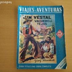 Libros de segunda mano: EDITORIAL MAUCCI VIAJES Y AVENTURAS LOS VAQUEROS DE TEJAS. Lote 256151555