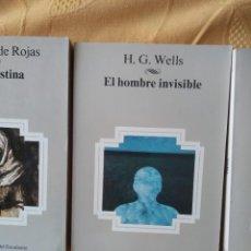 Libros de segunda mano: G-70 LIBRO EL HOMBRE INVISIBLE H.G. WELLS 9 AULA-BIBLIOTECA DEL ESTUDIANTE. Lote 257284295