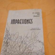 Libros de segunda mano: G-72 LIBRO IMPRESIONES FELICIANO GIL JIMENEZ. Lote 257325755