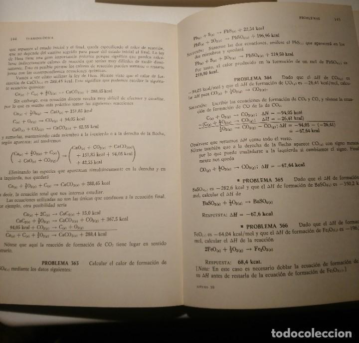 Libros de segunda mano: PROBLEMAS DE QUIMICA, EDITORIAL REVERTE S.A - Foto 3 - 257744770
