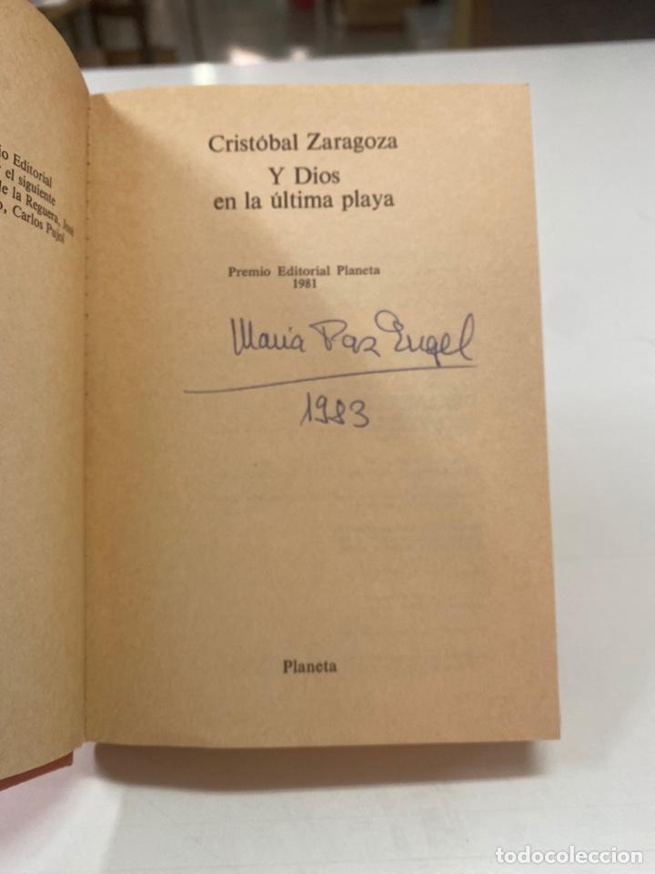 Libros de segunda mano: Y DIOS EN LA ÚLTIMA PLAYA POR CRISTÓBAL ZARAGOZA 3a EDICIÓN 1981 - Foto 6 - 260852125
