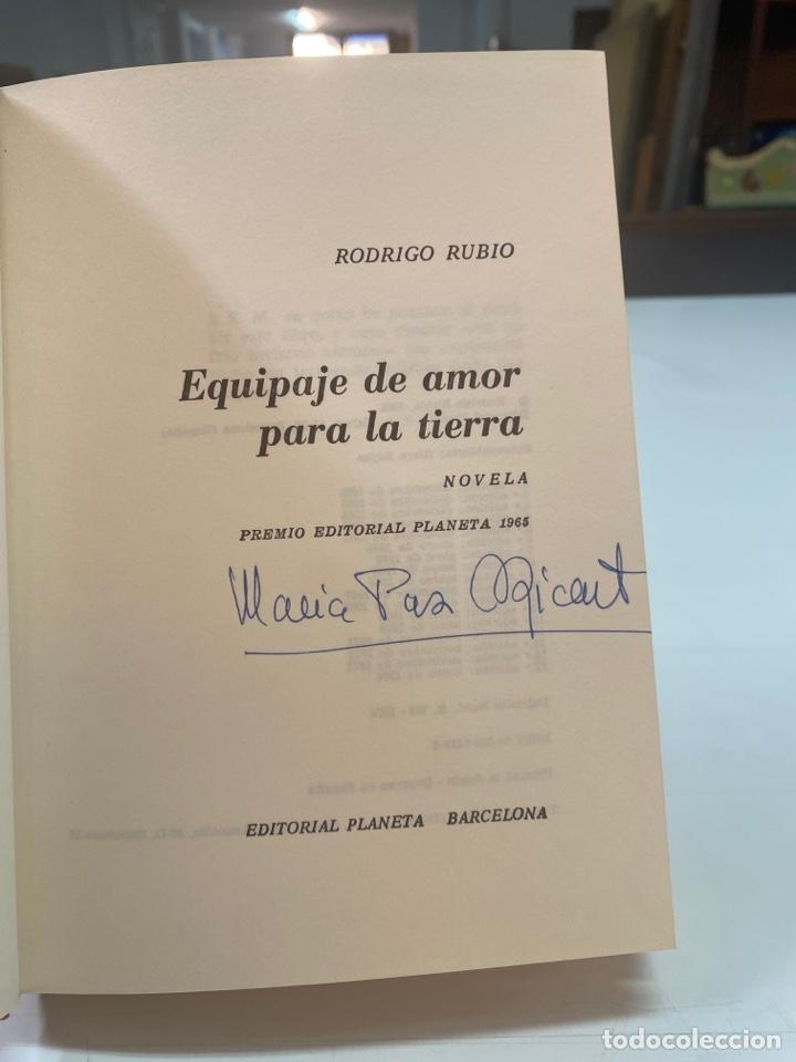 Libros de segunda mano: EQUIPAJE DE AMOR PARA LA TIERRA POR RODRIGO RUBIO 17a EDICIÓN 1974 - Foto 6 - 260852720