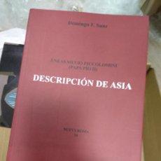 Libros de segunda mano: DESCRIPCION DE ASIA - SANZ,DOMINGO F,. Lote 261130600