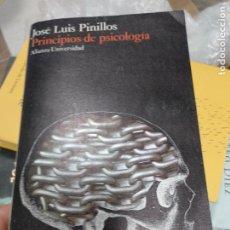 Libros de segunda mano: PRINCIPIOS DE PSICOLOGÍA - PINILLOS, JOSÉ LUIS. Lote 261133050
