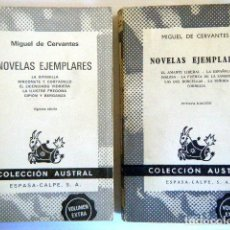 Libros de segunda mano: NOVELAS EJEMPLARES. CERVANTES, M. 2 VOLS.. Lote 261566245