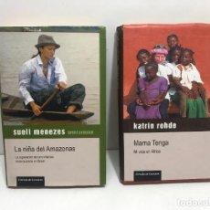 Libros de segunda mano: LOTE 2 LIBROS: LA NIÑA DEL AMAZONAS & MAMA TENGA CIRCULO DE LECTORES. Lote 261574970