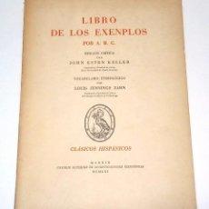 Libros de segunda mano: [SÁNCHEZ DE VERCIAL, CLEMENTE]. LIBRO DE LOS EXENPLOS POR A:B:C. 1961.. Lote 261589625