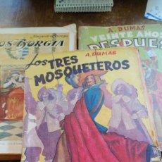Libros de segunda mano: 3 LIBROS DE ALEJANDRO DUMAS, PYMY 108. Lote 261590505