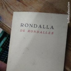 Libros de segunda mano: RONDALLA DE RONDALLES. 1971. L.14508-1191. Lote 262441315