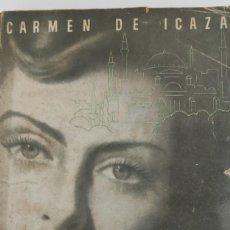 Libros de segunda mano: SOÑAR LA VIDA. CARMEN DE ICAZA. MADRID. 1945.. Lote 265336834