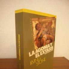 Libros de segunda mano: IRVING STONE: LA AGONÍA Y EL ÉXTASIS. VIDA DE MIGUEL ÁNGEL (EMECÉ, 1992) MUY BUEN ESTADO. RARO.. Lote 266298613