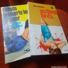Libros de segunda mano: LOTE DE 2 NOVELAS POLICIACAS DE LOS AÑOS 60. Lote 267356044