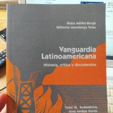 Libros de segunda mano: VANGUARDÍA LATÍNOAMERICANA. HISTORIA, CRÍTICA Y DOCUMENTOS. MÜLLER BERGH, KLAUS, VERVUERT (2004). Lote 267357954