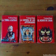 Libros de segunda mano: LA TÚNICA AZAFRÁN / LA CAVERNA DE LOS ANTEPASADOS / EL MÉDICO DE LHASA, LOBSANG RAMPA. Lote 267360279