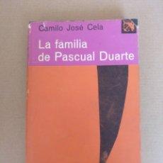 Libros de segunda mano: LA FAMILIA DE PASCUAL DUARTE. CAMILO JOSÉ CELA. COLECCIÓN ÁNCORA Y DELFÍN - 63. LIBRO. Lote 268250599