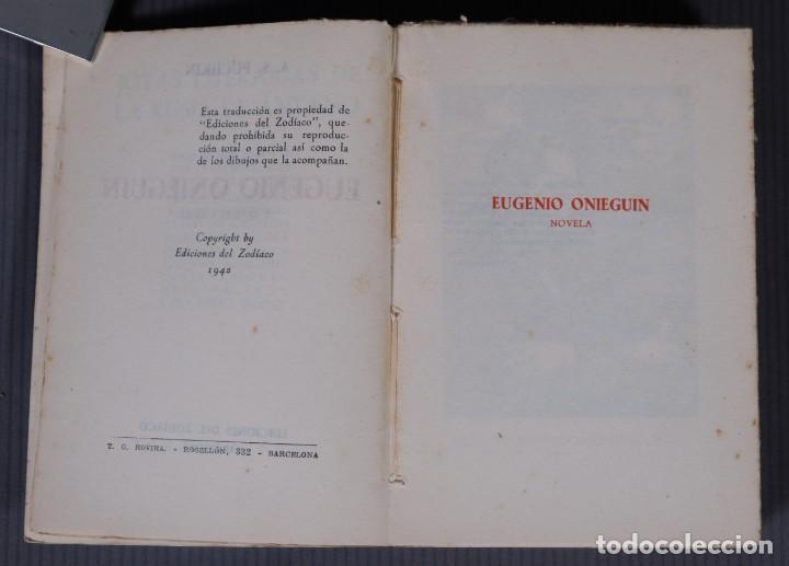 Libros de segunda mano: Eugenio Onieguin y otras obras - Puchkin -Ediciones del zodiaco 1942 - tomo segundo - Foto 5 - 268844954