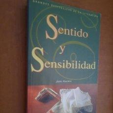 Libros de segunda mano: SENTIDO Y SENSIBILIDAD. JANE AUSTIN. RÚSTICA. BUEN ESTADO. Lote 268876059