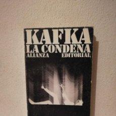 Libros de segunda mano: LIBRO LA CONDENA FRANZ KAFKA - VARIOS - ALIANZA EDITORIAL0. Lote 269015489