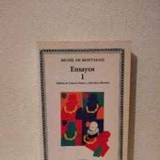 Libros de segunda mano: LIBRO - ENSAYOS I - VARIOS - MONTAIGNE MICHEL DE 1. Lote 269015849