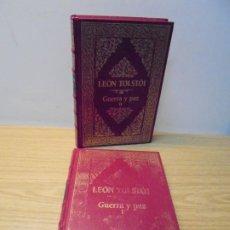 Libros de segunda mano: LEON TOLSTOI. GUERRA Y PAZ I Y II. CLUB INTERNACIONAL DEL LIBRO.. Lote 269330823