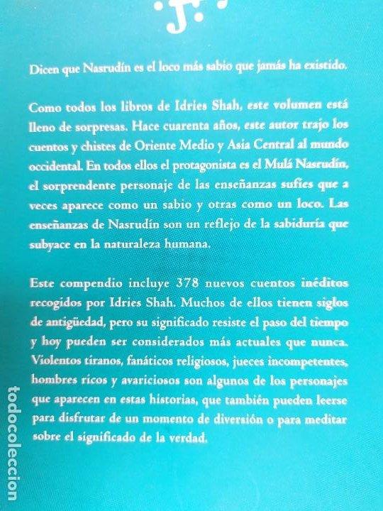 Libros de segunda mano: EL MUNDO DE NASRUDÍN. CUENTOS SUFÍES / IDRIES SHAH / 1ªed.2004. INTEGRAL - Foto 4 - 269479018