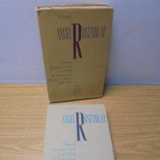 Libros de segunda mano: BIBLIOTECA ANGEL ROSENBLAT. TOMO I Y II. ESTUDIOS SOBRE EL HABLA DE VENEZUELA. BUENAS Y MALAS PALABR. Lote 269766668