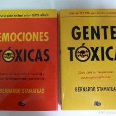 Libros de segunda mano: GENTE TÓXICA Y EMOCIONES TÓXICAS. BERNARDO STAMATEAS. DOS TOMOS EN ESTUCHE. Lote 270093708