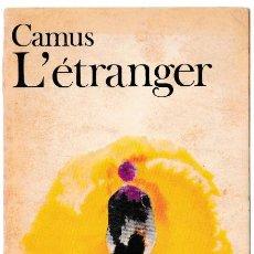 Libros de segunda mano: L'ETRANGER - ALBERT CAMUS - GALLIMARD 1957 - FRANCÉS. Lote 270124873