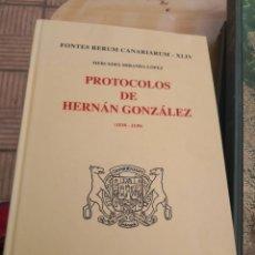 Libros de segunda mano: PROTOCOLOS DE HERNAN GONZÁLEZ.. 1538-1539. MERCEDES MIRANDA LÓPEZ. Lote 270142503