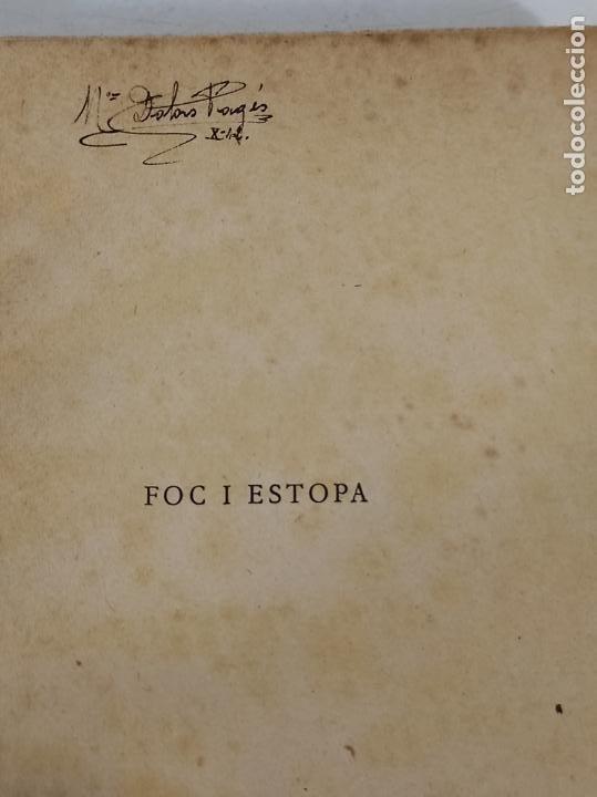 Libros de segunda mano: Foc i Estopa Novel-la - V. Coma Soley - Lliberia Verdaguer - 1934 - Foto 3 - 270674598