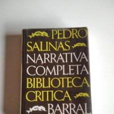 Libros de segunda mano: NARRATIVA COMPLETA. SALINAS, PEDRO. Lote 271064338