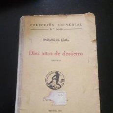 Libros de segunda mano: DIEZ AÑOS DE DESTIERRO. Lote 271139668