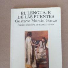 Libros de segunda mano: EL LENGUAJE DE LAS FUENTES. GUSTAVO MARTÍN GARZO. PALABRA EN EL TIEMPO, 219. ED LUMEN. LIBRO. Lote 272734208