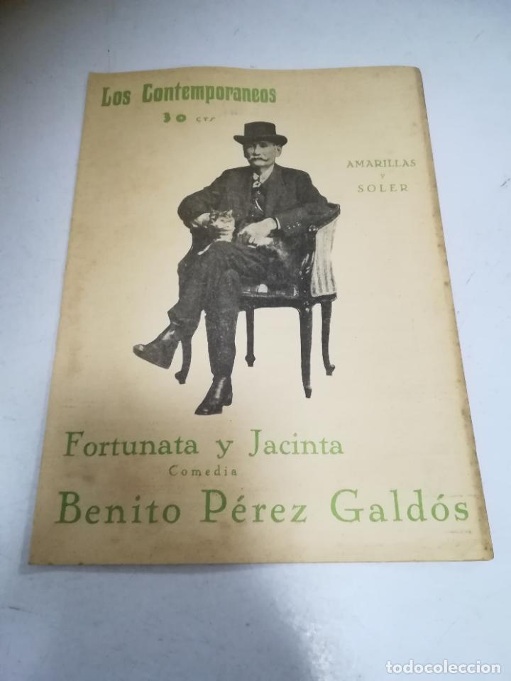 LOS CONTEMPORÁNEOS. Nº 826. FORTUNATA Y JACINTA. AMARILLAS Y SOLER. COMEDIA (Libros de Segunda Mano (posteriores a 1936) - Literatura - Narrativa - Otros)