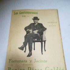 Libros de segunda mano: LOS CONTEMPORÁNEOS. Nº 826. FORTUNATA Y JACINTA. AMARILLAS Y SOLER. COMEDIA. Lote 273113938