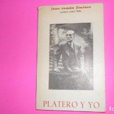 Libros de segunda mano: PLATERO Y YO, JUAN RAMÓN JIMÉNEZ, ED. AGRUPACIÓN NACIONAL DEL COMERCIO DEL LIBRO, TAPA BLANDA. Lote 273965033