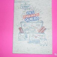 Libros de segunda mano: PIES PARA QUE OS QUIERO, MAURO PLENO, ED. LA COLUMNA DE MAURO, TAPA BLANDA. Lote 273971713