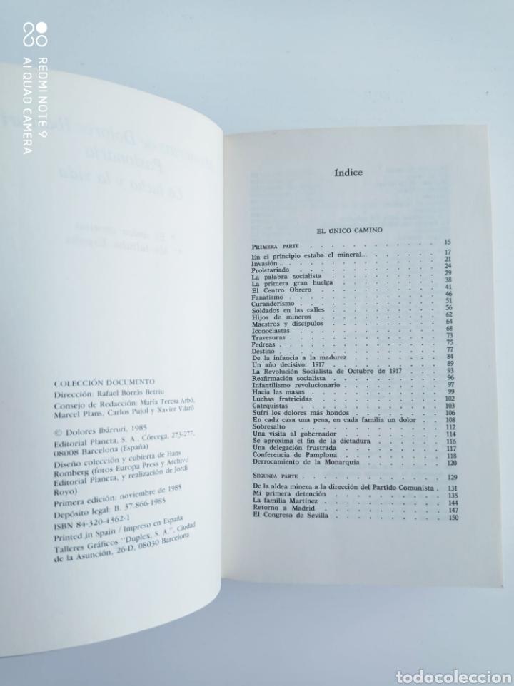 Libros de segunda mano: Memorias de Dolores Ibárruri. Pasionaria. La lucha y la vida. Planeta. Primera edición. - Foto 3 - 274781183