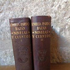 Libros de segunda mano: EMILIA PARDO BAZÁN NOVELAS Y CUENTOS. Lote 276706393