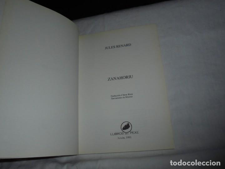 Libros de segunda mano: ZANAHORIU.JULES RENARD.LIBROS DEL PEXE GIJON 1991 - Foto 3 - 276747783