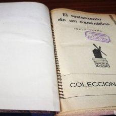 Libros de segunda mano: EL TESTAMENTO DE UN EXCENICO - JULIO VERNE. Lote 276803343