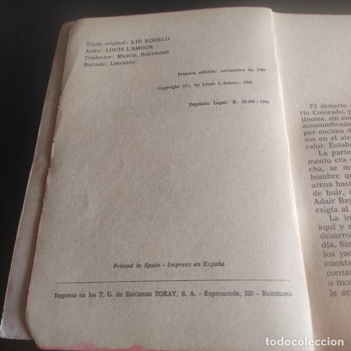 Libros de segunda mano: KID RODELO. LOUIS LAMOUR. 1966. EDICIONES TORAY. 148 PAGS. - Foto 3 - 276911438