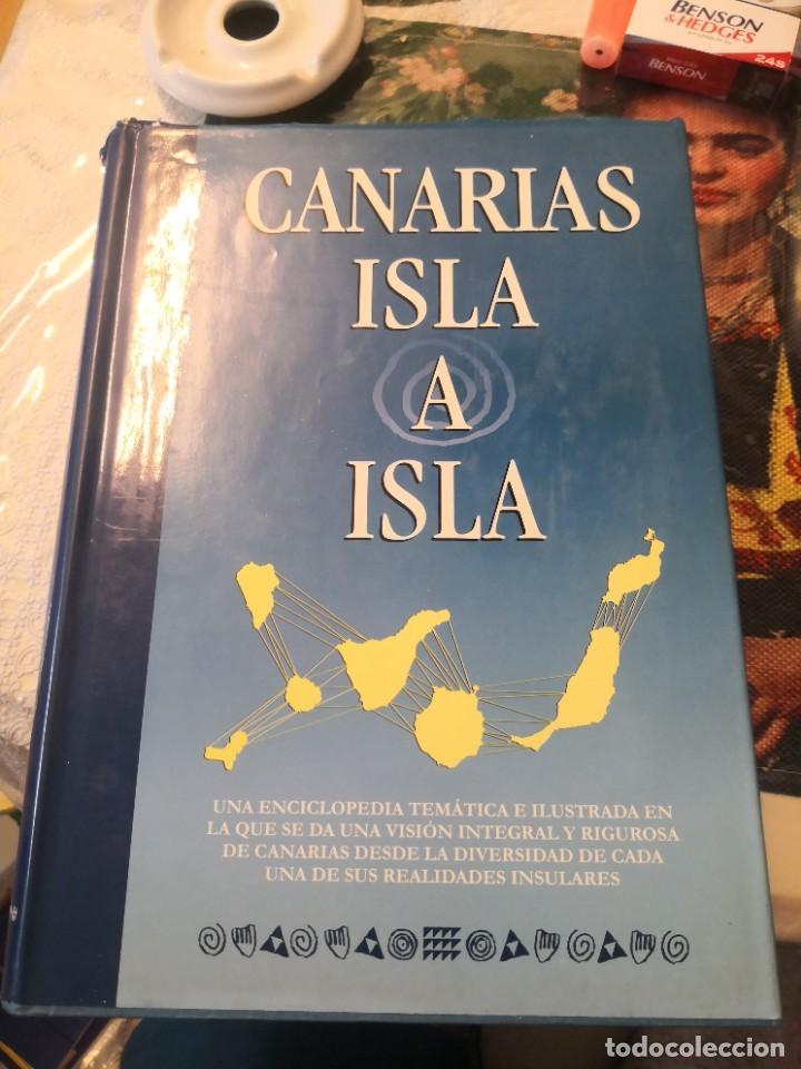 LIBRO GRANDE TAPA DURA ILUSTRADO Y NARRATIVAS DE CANARIAS ISLA A ISLA 631 PÁGINAS (Libros de Segunda Mano (posteriores a 1936) - Literatura - Narrativa - Otros)