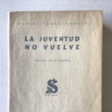 Libros de segunda mano: LA JUVENTUD NO VUELVE. NOVELA DE LA GUERRA. - POMBO ANGULO, MANUEL.. Lote 123231946