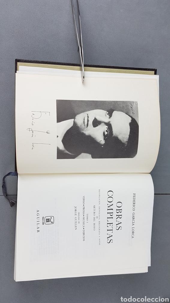 Libros de segunda mano: FEDERICO GARCIA LORCA. OBRAS COMPLETAS EN DOS TOMOS. EDICIONES AGUILAR. - Foto 3 - 277115568
