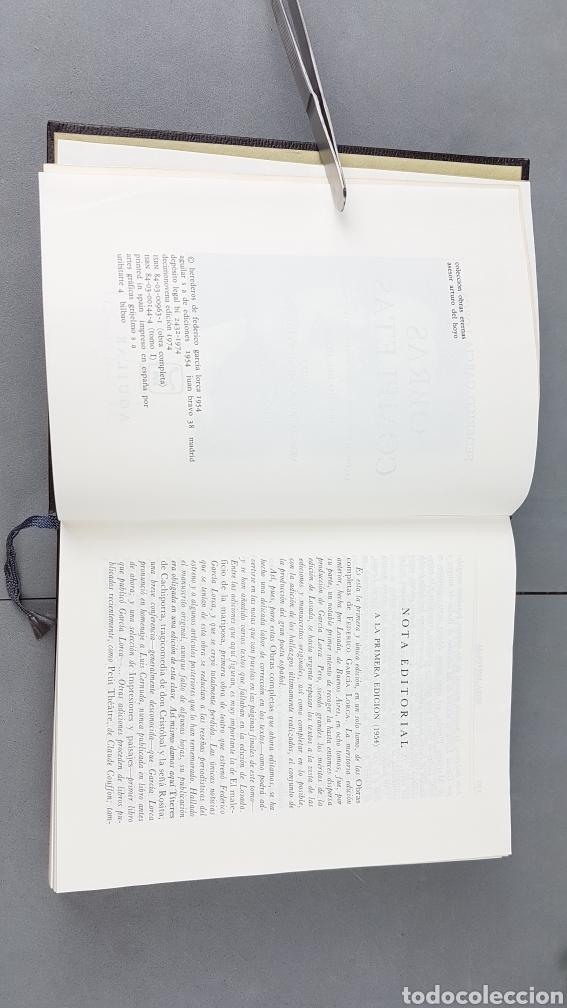 Libros de segunda mano: FEDERICO GARCIA LORCA. OBRAS COMPLETAS EN DOS TOMOS. EDICIONES AGUILAR. - Foto 4 - 277115568